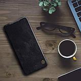Nillkin Xiaomi Poco X3 NFC Qin leather Black case Кожаный Чехол Книжка, фото 5