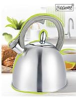 Чайник со свистком из нержавеющей стали Maestro MR-1312 (2.5 л) | металлический чайник Маэстро, Маестро, фото 1