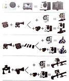 Экшн камера A7 Sport Аквабокс,Крепление на руль,шлем,защита gopro, фото 5