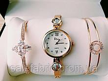 Шикарные наручные женские часы Disu звезда с ДВУМЯ  браслетами