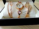 Шикарные наручные женские часы Disu сердце с ДВУМЯ  браслетами, фото 2