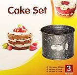 Формы для выпечки пасхи кексов A-PLUS 3шт мраморное покрытие, фото 3