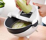 Многофункциональная терка- овощерезка с контейнером Basket Vegetable Cutter, фото 5