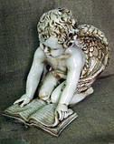 Ангелочек с книгой из полимербетона (полистоуна) 40 см, фото 2