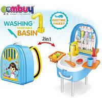 Игровой набор WASHING VEGETABLE BASIN Кухня в форме рюкзака, фото 1
