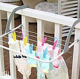 Сушилка для белья навесная Fold Clothes Shelf на батарею, фото 4