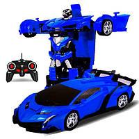 Машинка детская на радиоуправлении Трансформер Lamborghini Robot Car Size 18