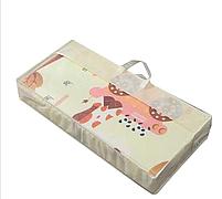 """Двухсторонний складной ПВХ коврик """"Животные"""" размер 1,5м на 1,8м Детский коврик для  ползания мягкий + подарок, фото 2"""