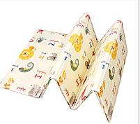 """Двухсторонний складной ПВХ коврик """"Животные"""" размер 1,5м на 1,8м Детский коврик для  ползания мягкий + подарок, фото 3"""