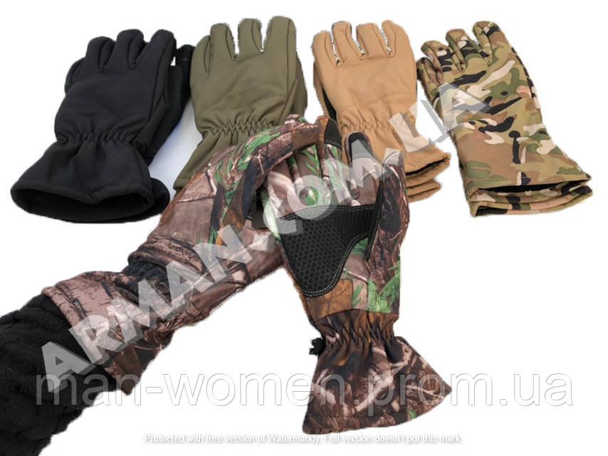 Перчатки зимние softshell waterproof. Цвета в ассортименте. Новые!