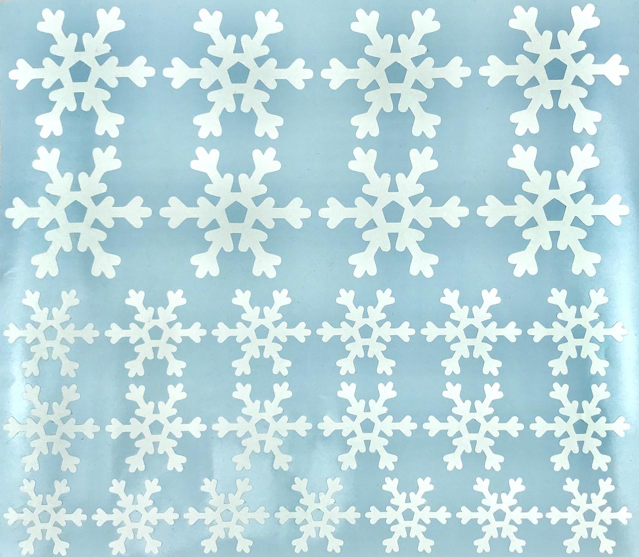 Набор наклеек Снежинки