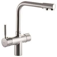 Смеситель для кухни Haiba HANS 021 с вых. для питьевой воды (цвет нерж. сталь) (HB0817)