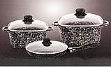 Набор Мраморных кастрюль А-Плюс 6 предметов, фото 2