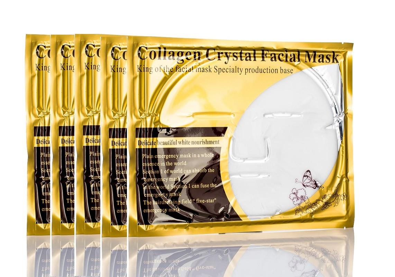 """Набор масок для лица 10 шт . Маска для лица кристальный коллаген, белая """"Collagen Crystal Facial Mask"""""""