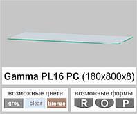 Стеклянная полка прямоугольная Commus PL16 PC (180х800х8мм), фото 1