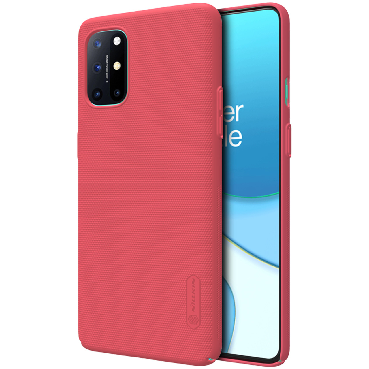 Nillkin Oneplus 8T Super Frosted Shield Red Чехол Накладка Бампер