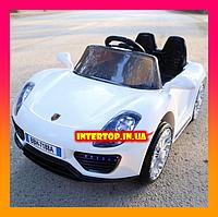 Детский электромобиль Porsche на пульте, LQ7188A белый. Машина на пульте Порше