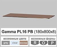 Стеклянная полка прямоугольная Commus PL16 PB (180х800х8мм), фото 1