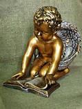 Ангелочек с книгой из полимербетона (полистоуна) 40 см, фото 4