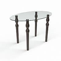Стол обеденный из стекла модель Овальный прозрачный