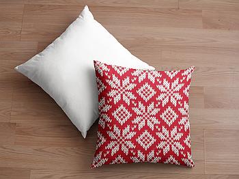 Декоративная подушка для сублимации с новогодним принтом 35х35см.NP001