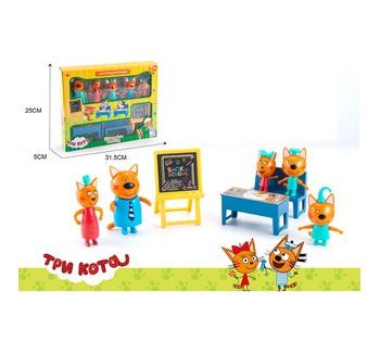 """Игровой набор 3 кота """"Back to School"""" герои, в коробке M 8812"""