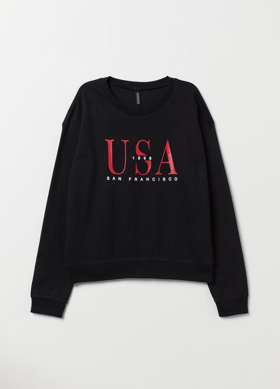Женский свитшот H&M L(175/100 )черный