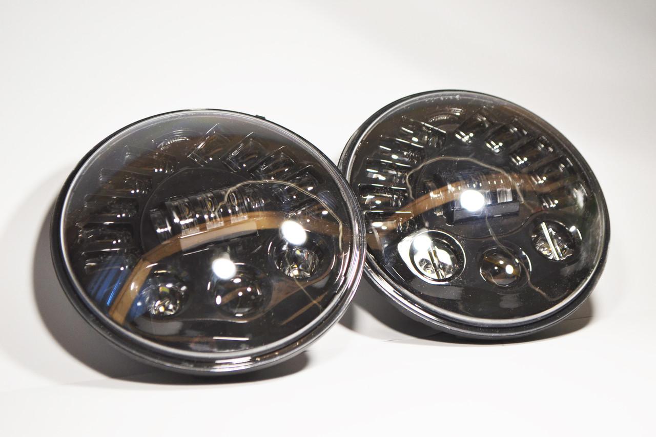 Cветодиодная LED фара 80Вт Нива, УАЗ 469, ВАЗ 2101, 2121, FJ Cruiser, мотоцикл, мото 7 дюйм
