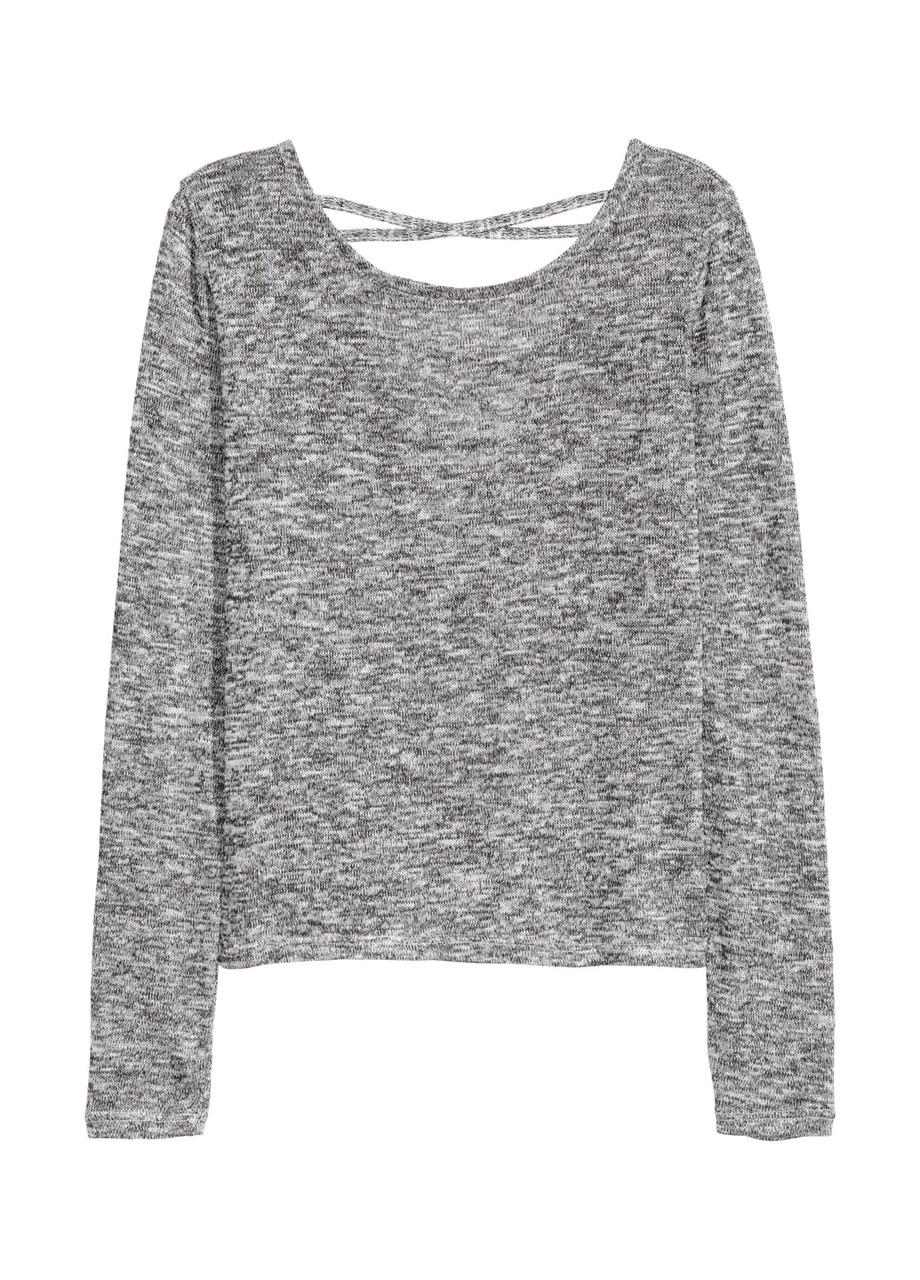 Женский джемпер H&M XS(160/80 )серый