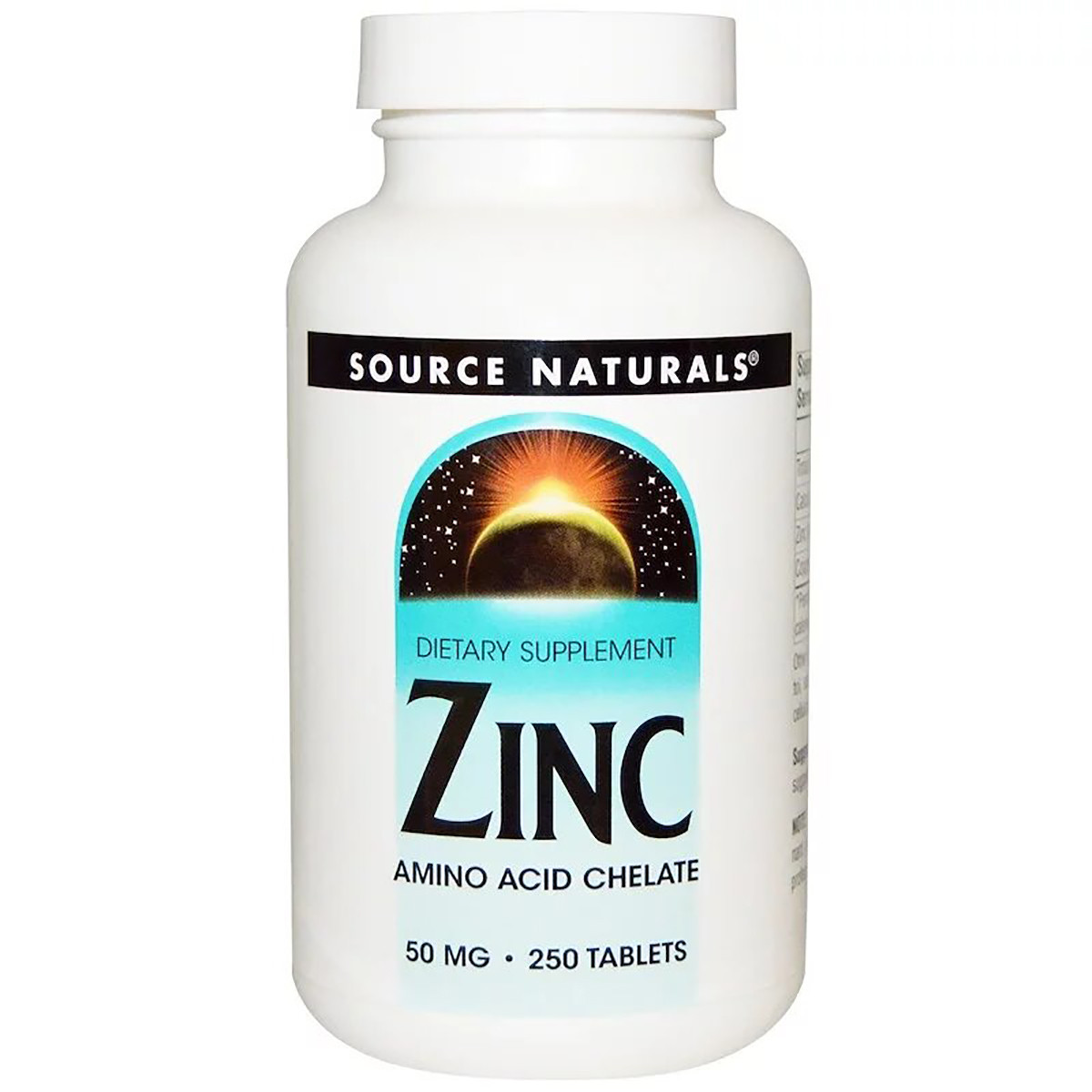 Цинк 50мг, Source Naturals, 250 таблеток