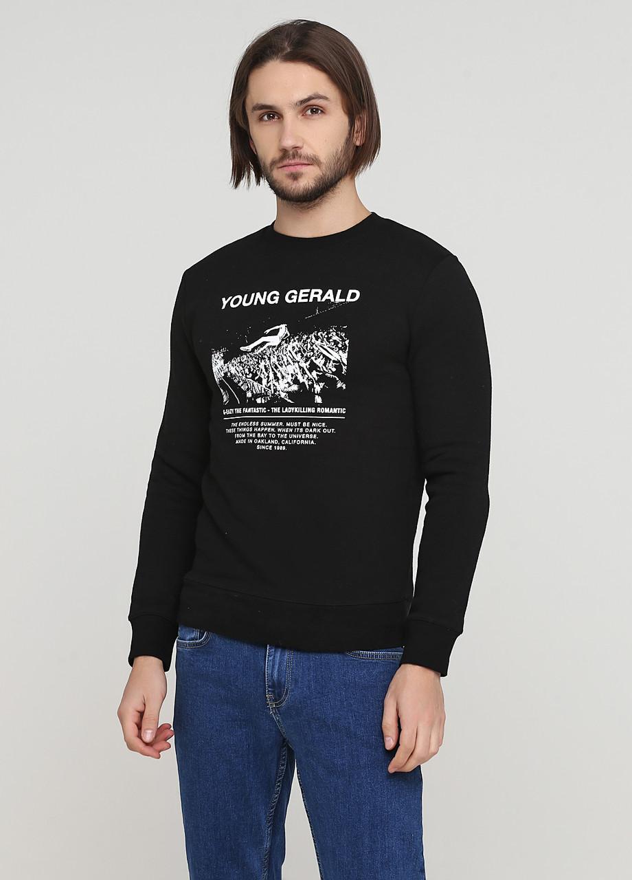 Мужской свитшот H&M L(180/108) черный