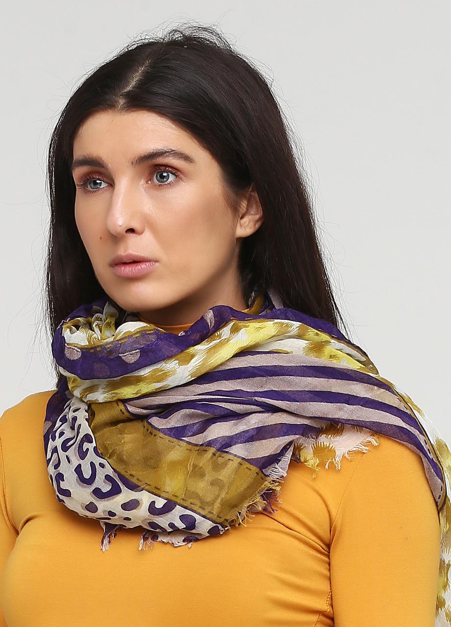 Шарф H&M One Size  фиолетово-желтый