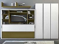Подъемная кровать, встроенная в шкаф