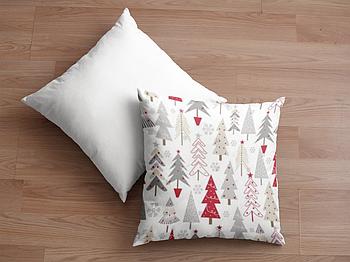 Декоративная подушка для сублимации с новогодним принтом 35х35см.NP004