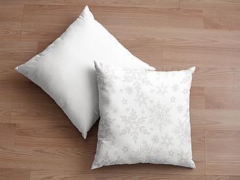 Декоративная подушка для сублимации с новогодним принтом 35х35см.NP006