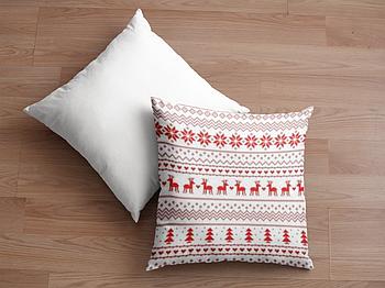 Декоративная подушка для сублимации с новогодним принтом 35х35см.NP007