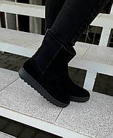 Угги натуральная замша ботинки женские зима viko. Размеры: 36,37,38,39,