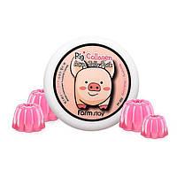 Укрепляющая ночная маска желе со свиным коллагеном FARMSTAY Collagen Aqua Piggy Jelly Pack 100 мл