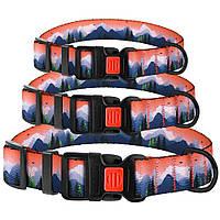 Ошейник для cобак Travel нейлоновый c пластиковой пряжкой Горы