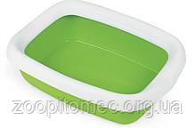 Лоток-туалет с рамкой для кошек BETA PLUS maxi green, зеленый 49*39*17 см