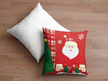 Декоративная подушка для сублимации с новогодним принтом 35х35см. NP011