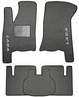 Ворсовые коврики для Lada Приора (ВАЗ 2170-72) Текстильные в салон авто (серые) (StingrayUA.)