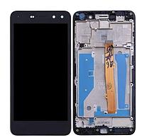 Дисплей (экран) для Huawei Y5 2017 (MYA-L02/MYA-L22)/Y5 III/MYA-U29 + тачскрин, черный, с передней панелью