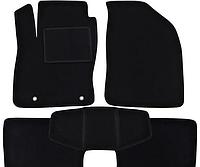 Ворсовые коврики для ZAZ Lanos/Sens (2002-) Текстильные в салон авто (чёрный) (StingrayUA.)