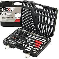 Набор инструмента профессиональный [Pro] 216 предметов 72TH DIZEL 5885