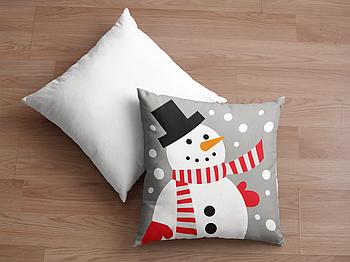 Декоративная подушка для сублимации с новогодним принтом 35х35см. NP016