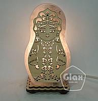"""Соляная лампа светильник """"Матрешка"""" маленькая"""