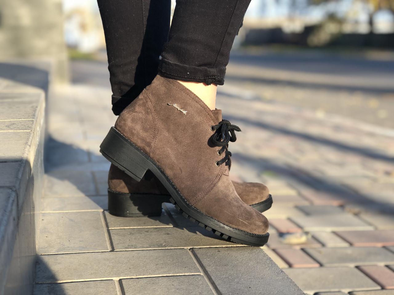 Кожаные Женские ботинки 854 кор Aleksandr размеры 38,39