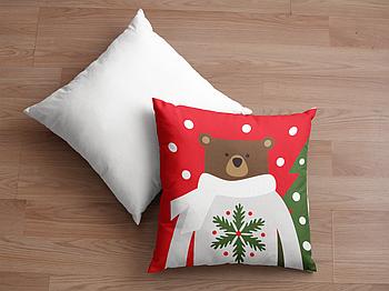 Декоративная подушка для сублимации с новогодним принтом 35х35см. NP018