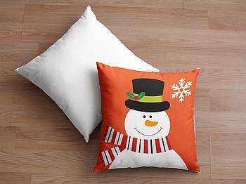 Декоративная подушка для сублимации с новогодним принтом 35х35см. NP026